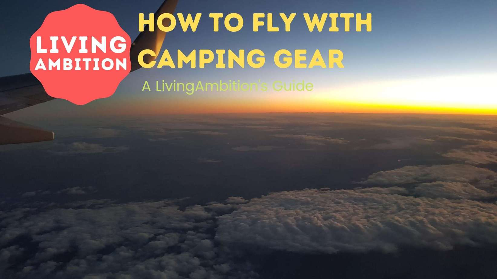 How To Fly With Camping Gear