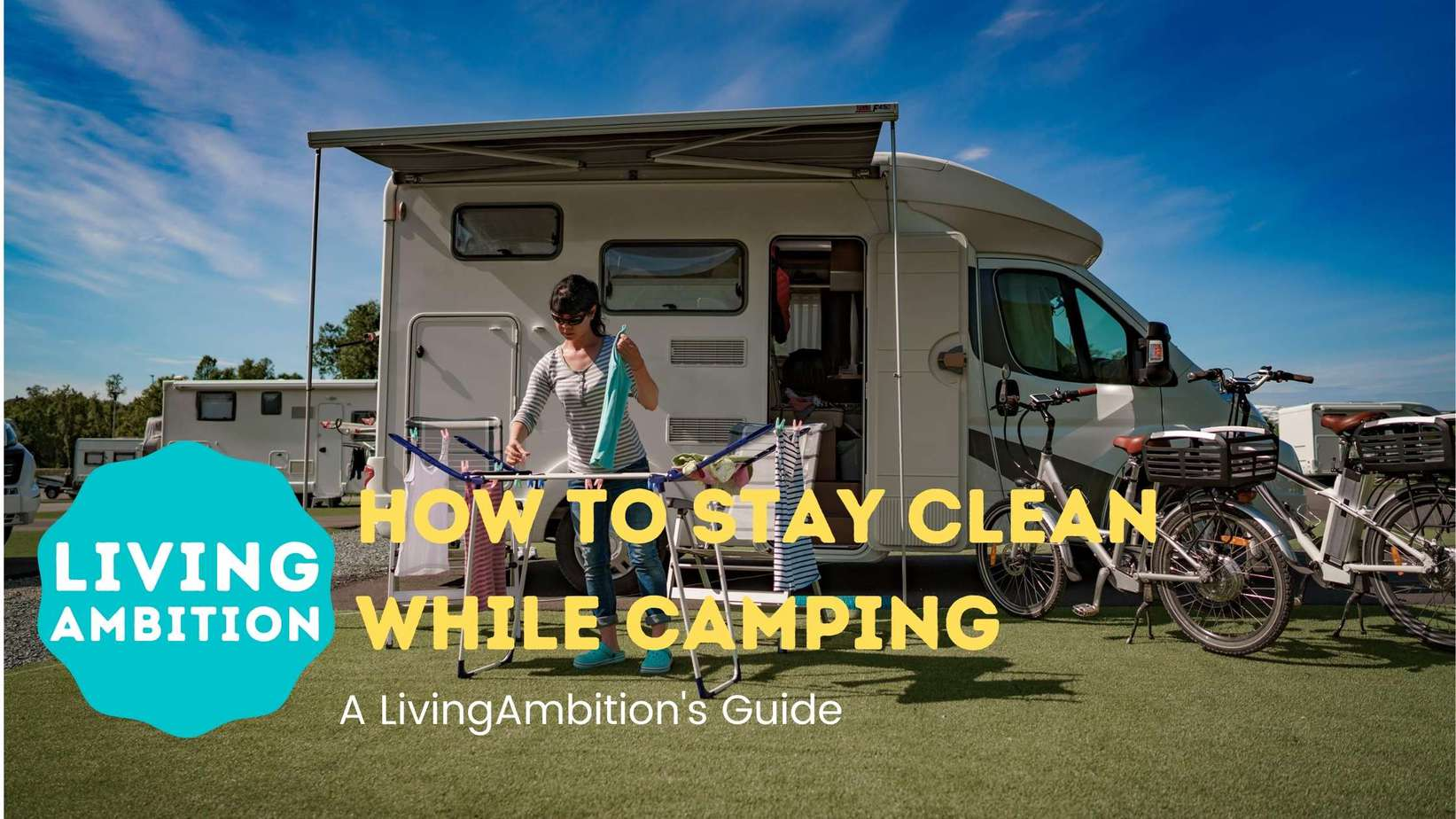 how to stay clean while camping