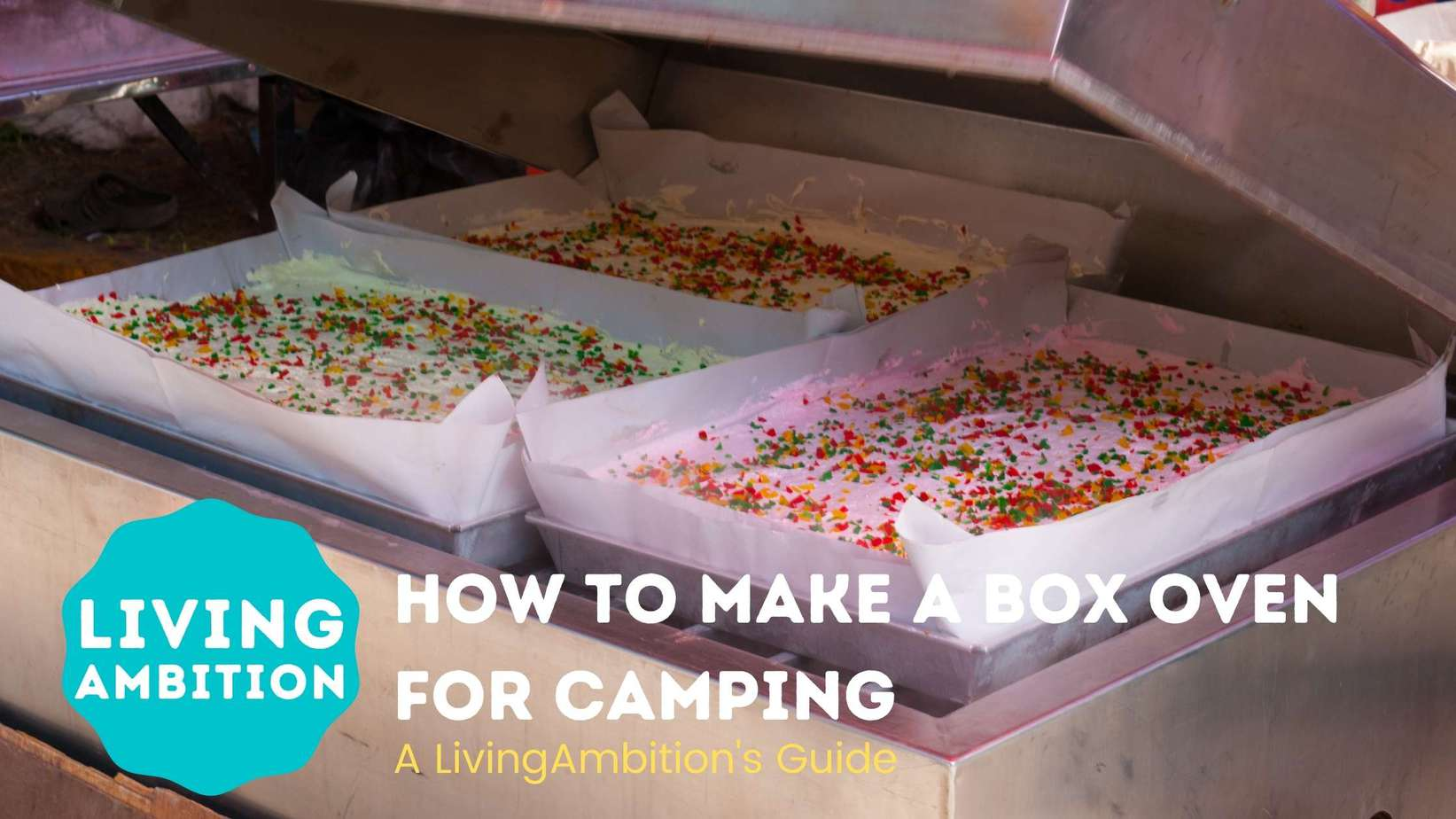 how to make a box oven for camping