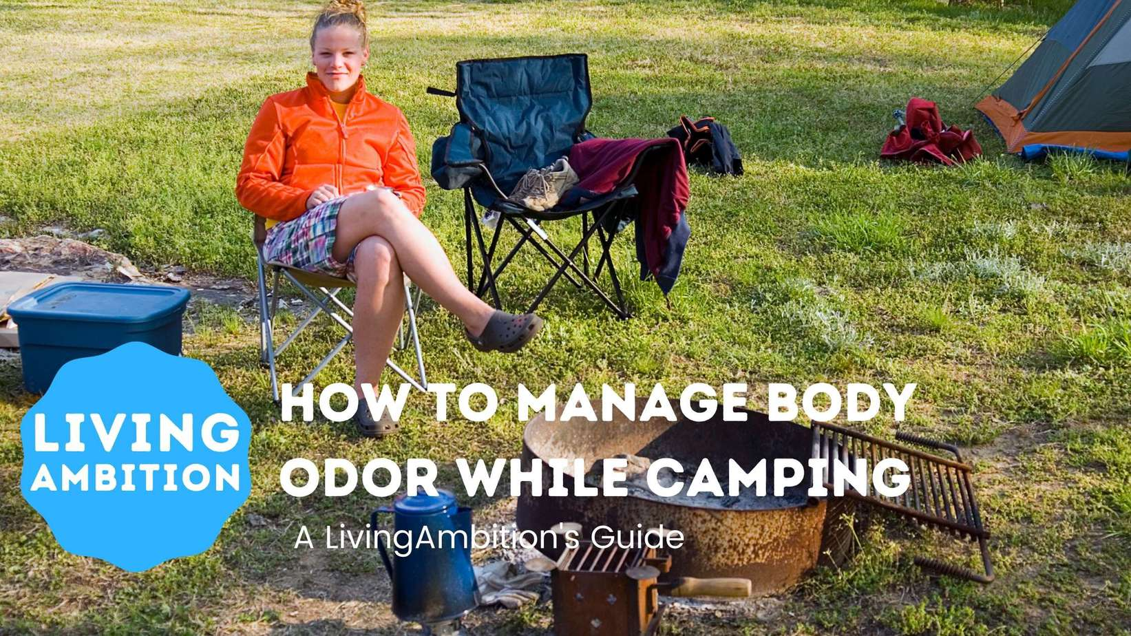 how to manage body odor while camping