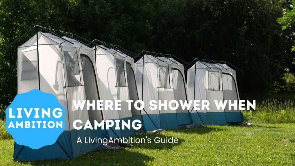 where to shower when camping